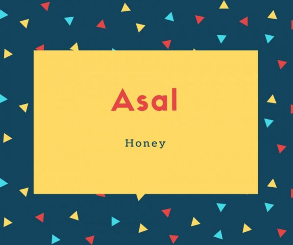 Asal Name Meaning Honey