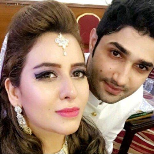Rabia Anam with her Husband