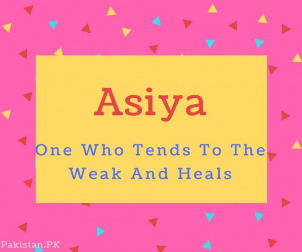 What is Asiya Name Meaning In Urdu - Asiya Meaning is فرعون کی مومن