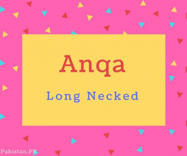 Anqa Name Meaning Long Necked.