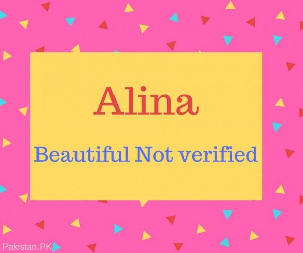 Alina Name Meaning Beautiful Not verified.
