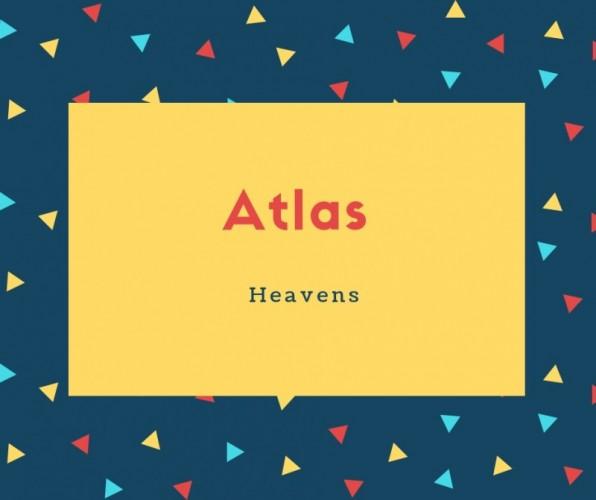 Atlas Name Meaning Heavens