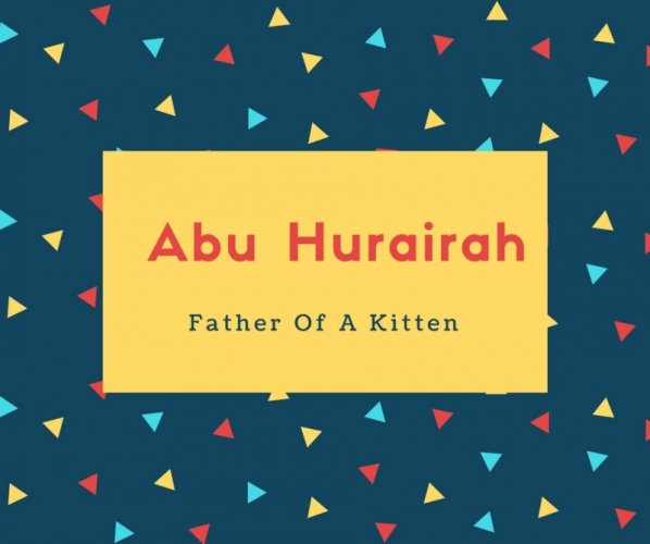 Abu Hurairah Name Meaning Father Of A Kitten