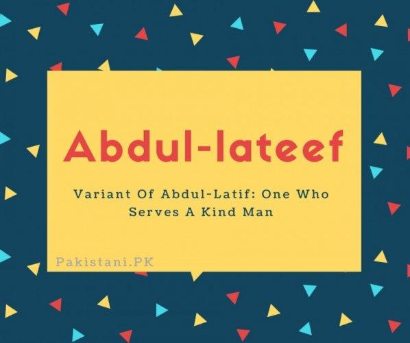 Abdul-lateef