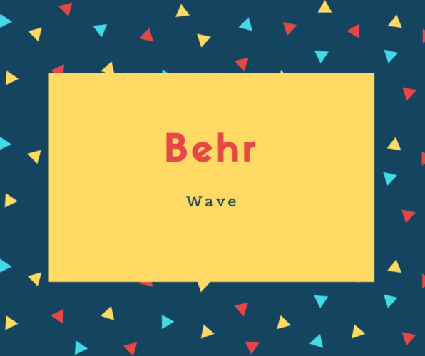 Behr Name Meaning Wave