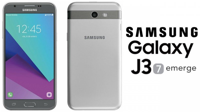 Samsung Galaxy J3 Emerge - Cover Photo Front Back