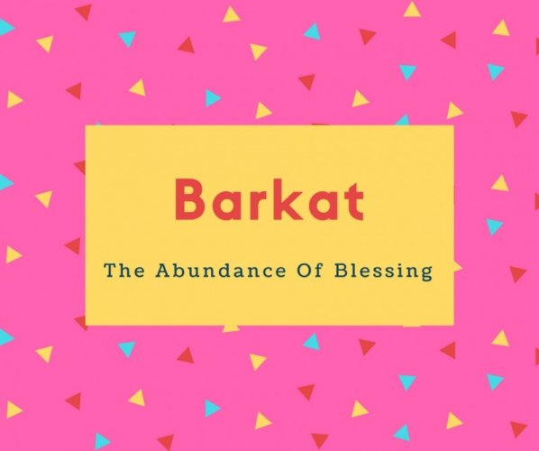 Barkat Name Meaning Of The Abundance Of Blessing