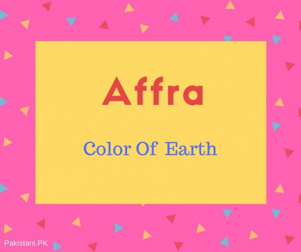 Affra name meaning Color Of Earth.