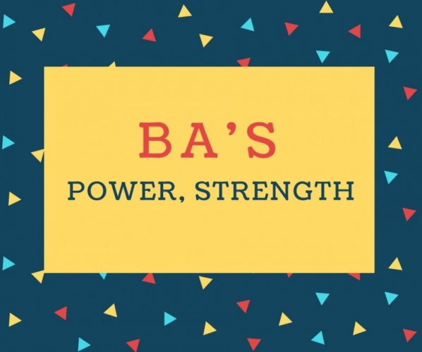 Ba's Name meaning Power, Strength.