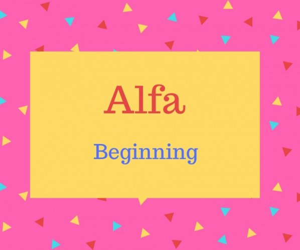 Alfa Name Meaning Beginning