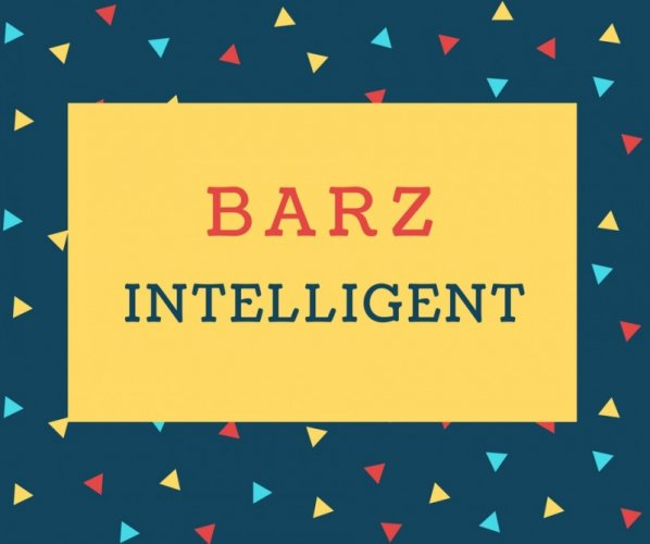 Barz Name meaning Intelligent.