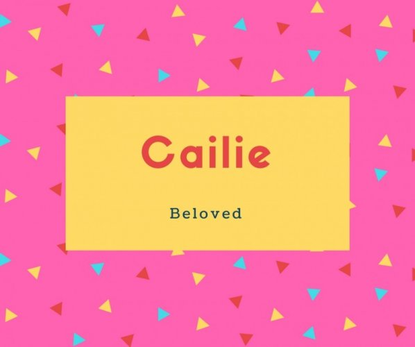 Cailie Name Meaning Beloved
