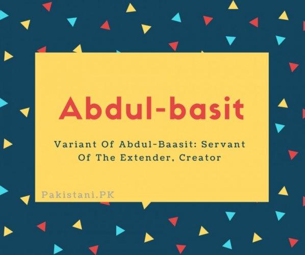 Abdul-basit
