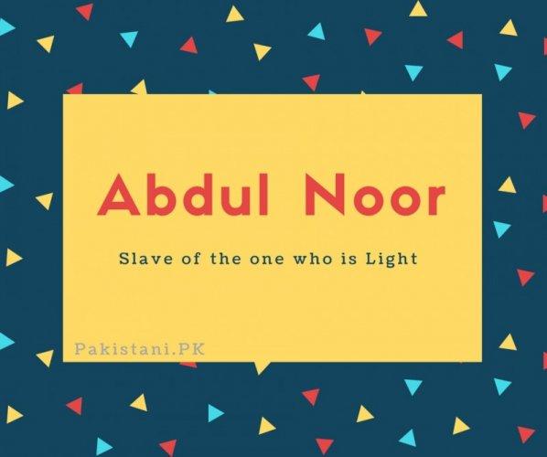 Abdul Noor