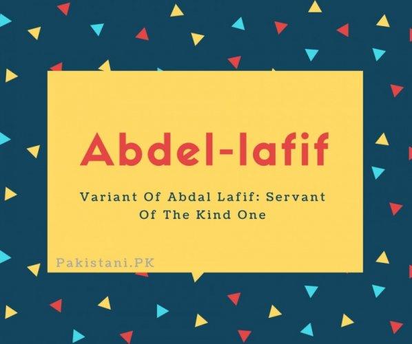 Abdel-lafif