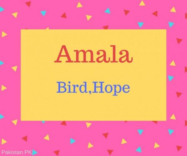 Amala Name Meaning Bird, Hope.