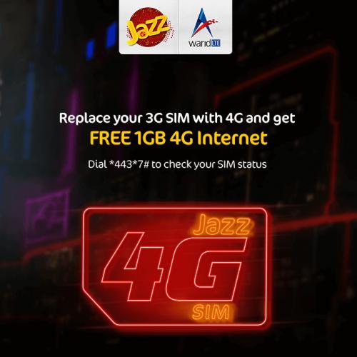 4G sim offer 001.