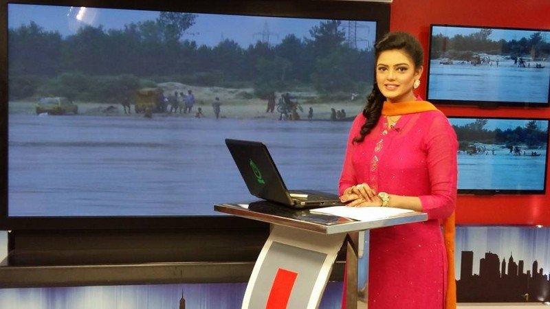 Smart Ramsha Kanwal in Pink Dress