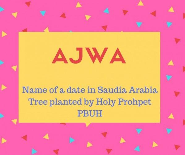 What is Ajwa Name Meaning In Urdu - Ajwa Meaning is حضور ﷺ