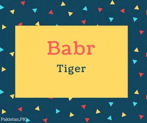 Babr Name Meaning In Tiger
