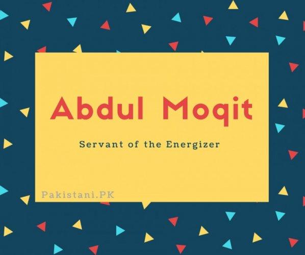 Abdul Moqit