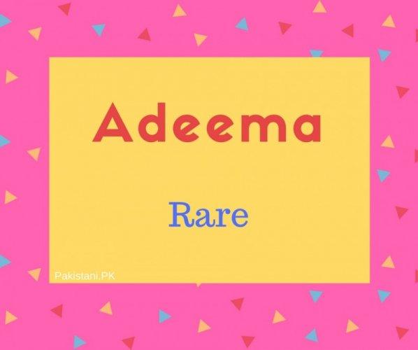 Adeema name meaning Rare.jpg