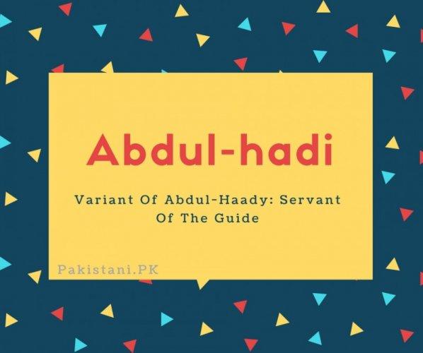 Abdul-hadi