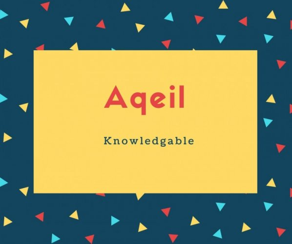 Aqeil Name Meaning Knowledgable