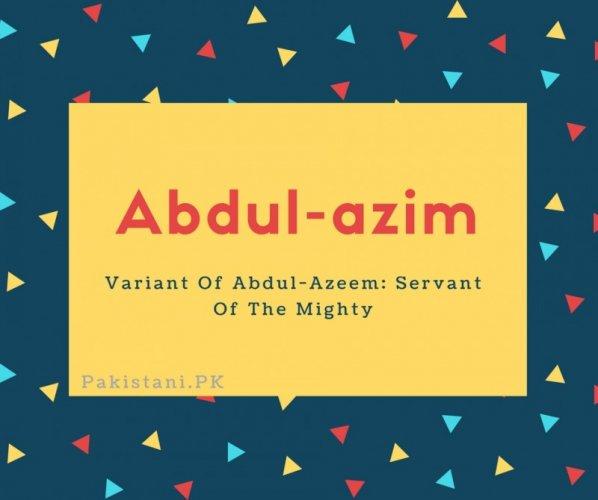 Abdul-azim
