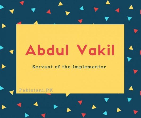 Abdul Vakil