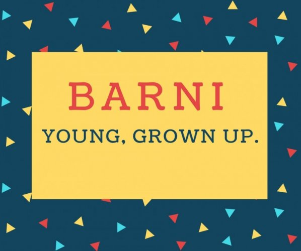 Barni Name meaning In Young, grown up..