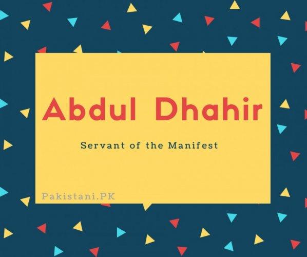 Abdul Dhahir
