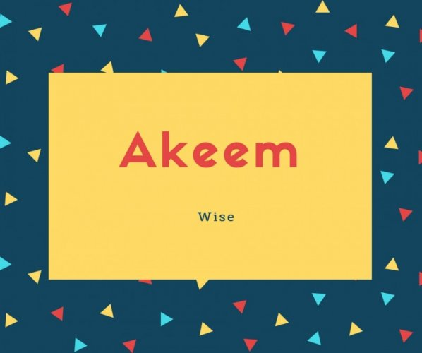 Akeem Name Meaning Wise