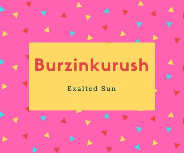 Burzinkurush Name Meaning Exalted Sun