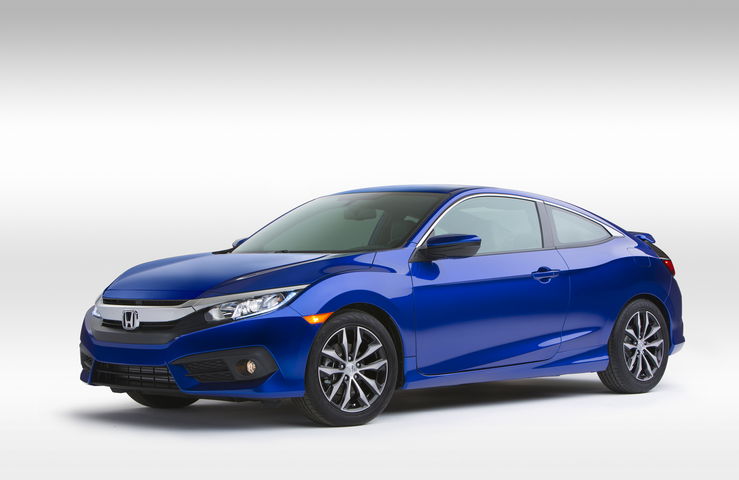 Honda Civic 1.5L Turbo 2016 Blue Side View