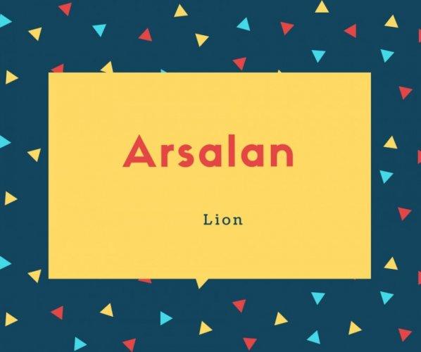 Arsalan Name Meaning Lion