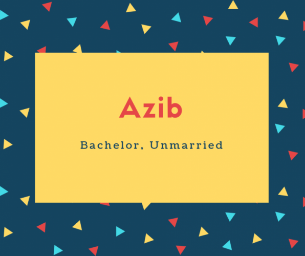 Azib Name Meaning Bachelor, Unmarried