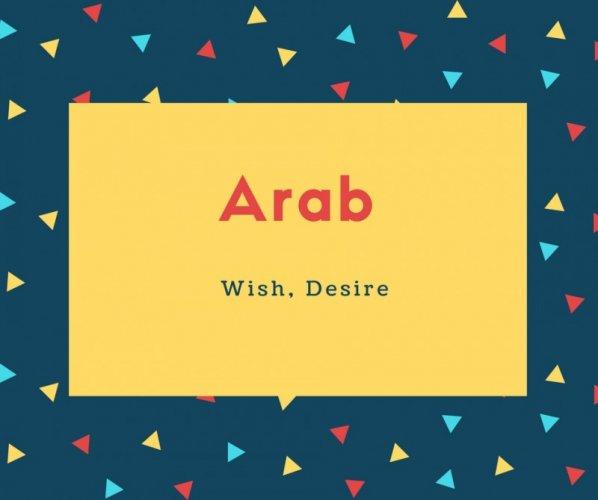 Arab Name Meaning Wish, Desire
