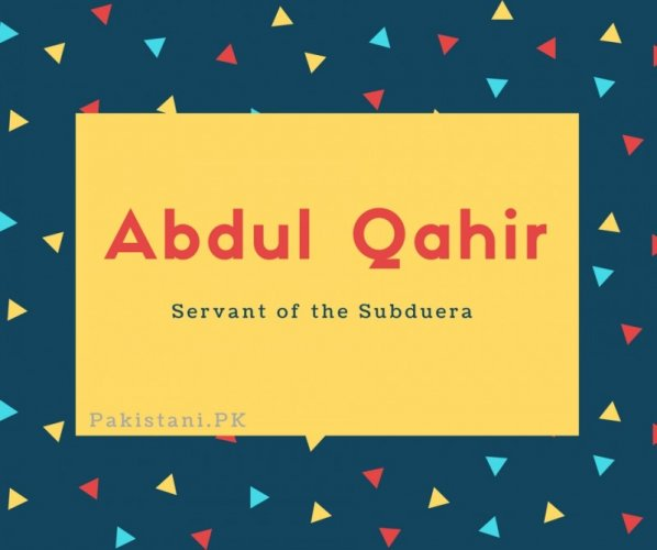 Abdul Qahir
