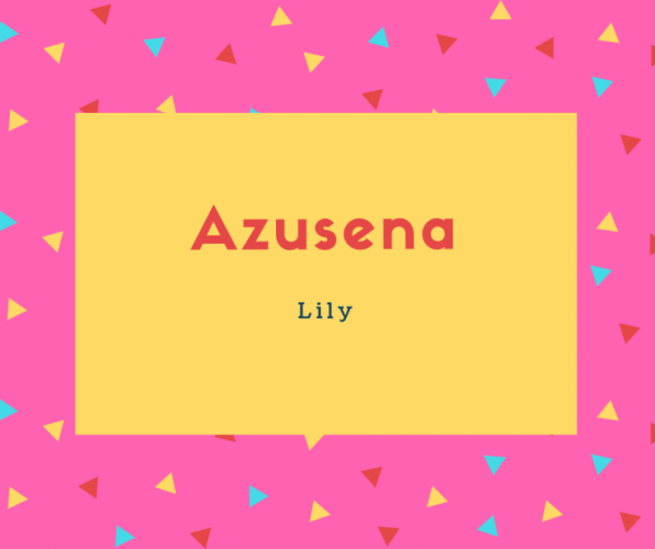 Azusena Name Meaning Lily
