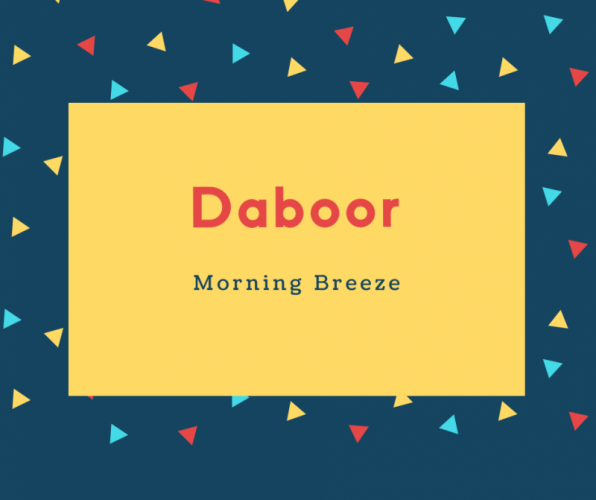 Daboor Name Meaning Morning Breeze