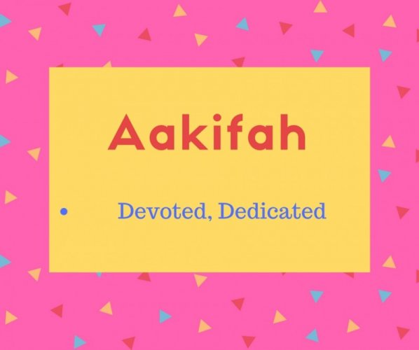 Aakifah Name Meaning