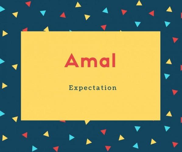 Amal Name Meaning Expectation