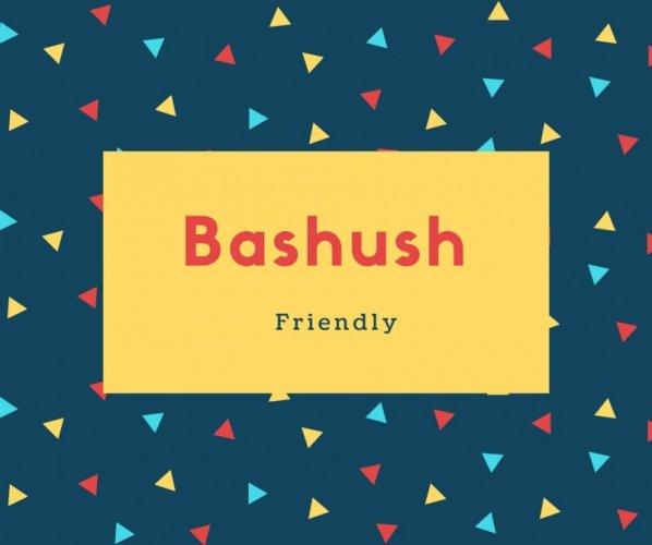 Bashush Name Meaning Friendly