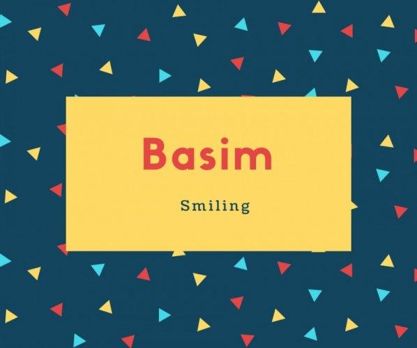 Basim Name Meaning Smiling