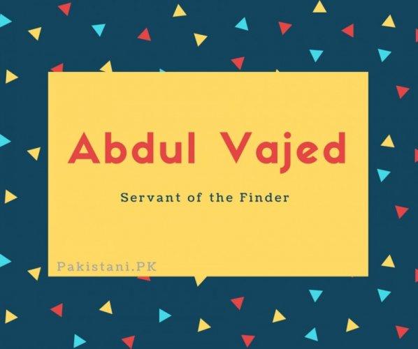 Abdul Vajed