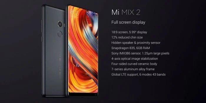Xiaomi Mi Mix 2s - Price, Comparison, Specs, Reviews