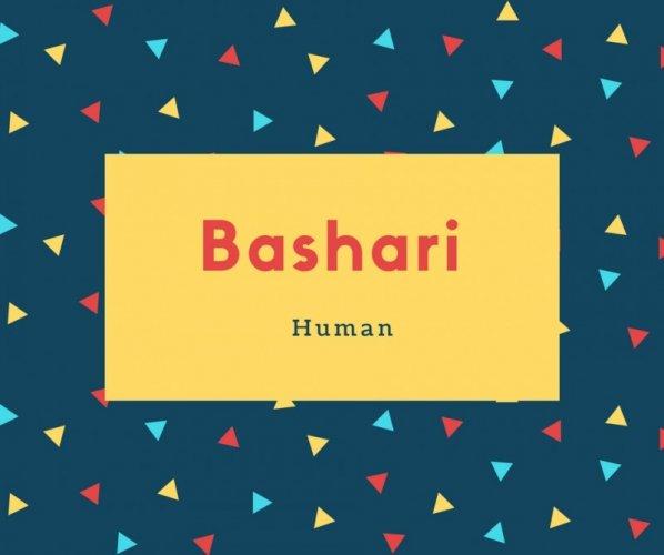 Bashari Name Meaning Human