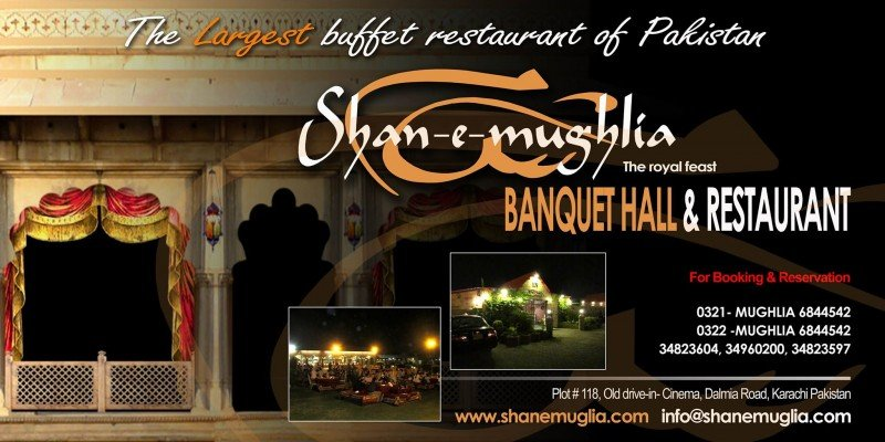 shan-e-mughlia restaurant in dalmia road karachi