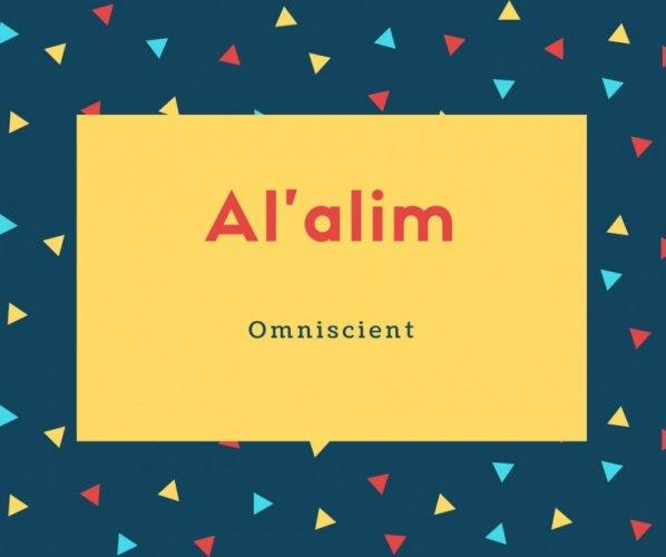 Al'alim Name Meaning Omniscient